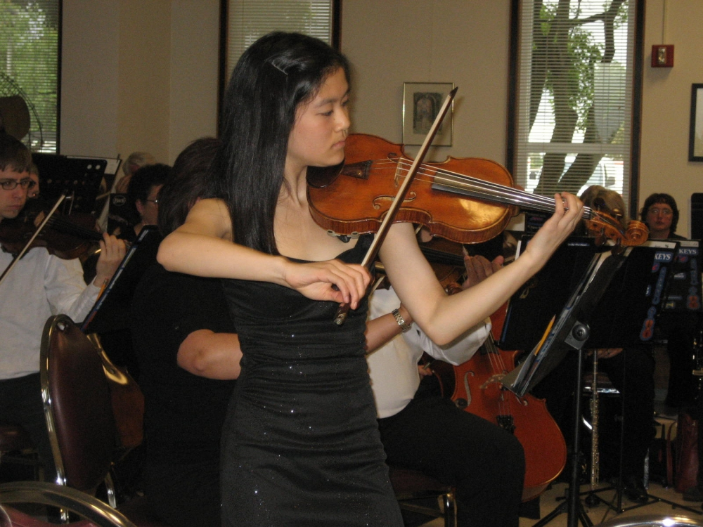 Soloist Letitia Jap at Four Freedoms