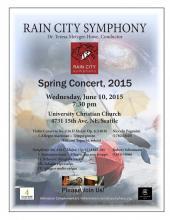 Poster for Spring concert