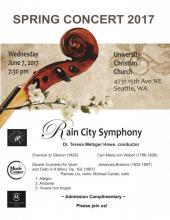 Rain City Symphony Spring Concert 2017